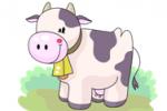 Картинка раскраска коровы для детей 60