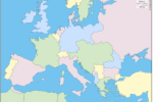 Stumme Karte.Stumme Karte Europa 1914